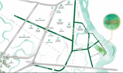 Vị trí dự án đất nền Saigon Garden Quận 9 có thuận lợi không?